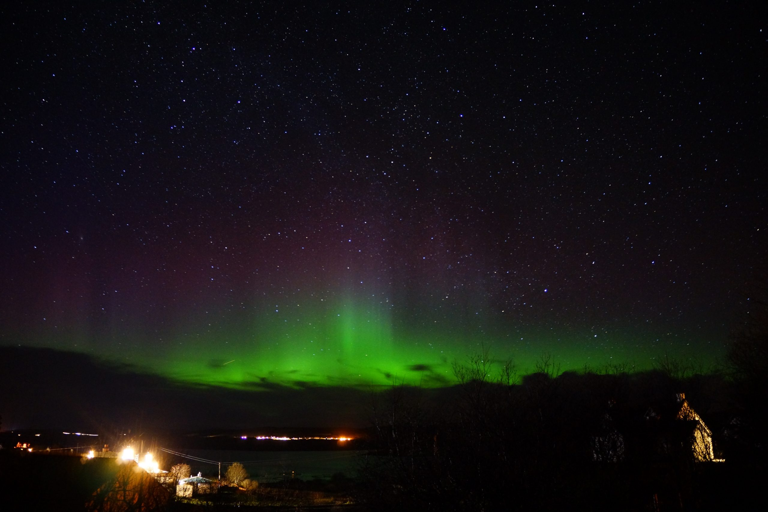 aurora over the hotel Nothern lights in November photo used with permission Arlyn Thursby